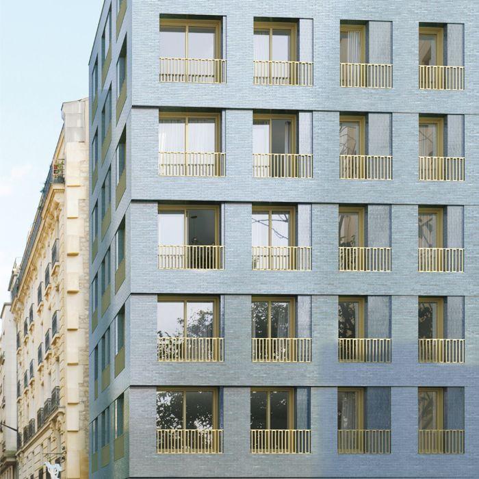R architecture 10 logements sociaux paris 1 for Facade immeuble moderne