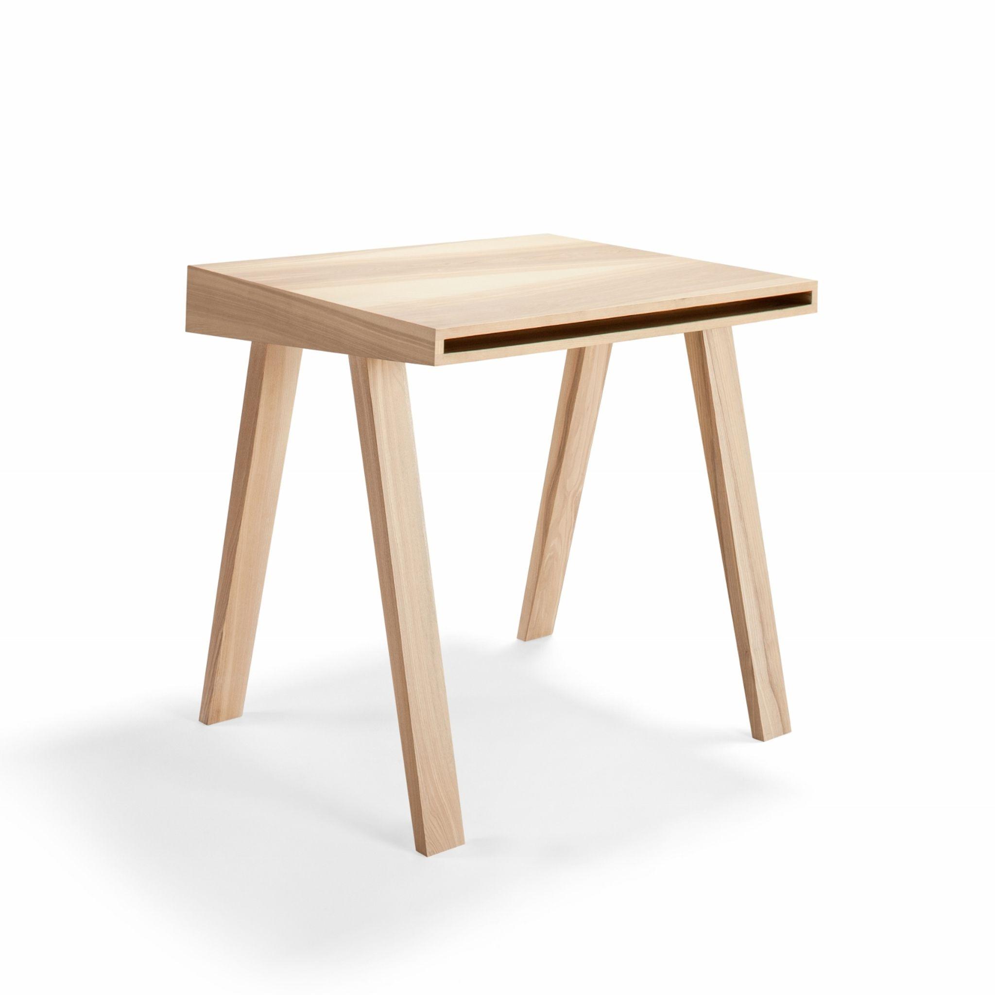 Schreibtisch 4.9 aus Holz mit einer Schublade. Ausgefallener ...