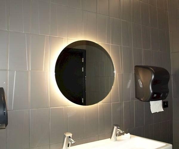 Badkamerspiegel LED Amsterdam rond 70cm - op maat gemaakte spiegel ...