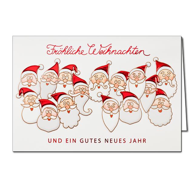 Diese witzigen weihnachtskarten wurden aus einem modernen for Weihnachtskarten online versenden