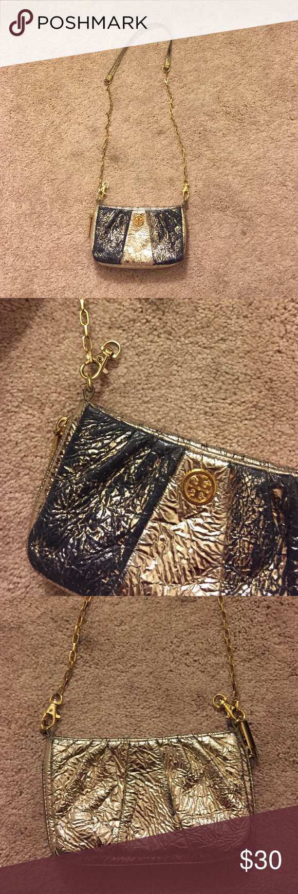 8fb0fc792224 Tory Burch Crossbody Authentic. Used condition. The front gold has ...