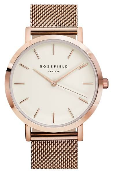 Rose Gold watch with mesh strap | christmas gift ideas | womens ...