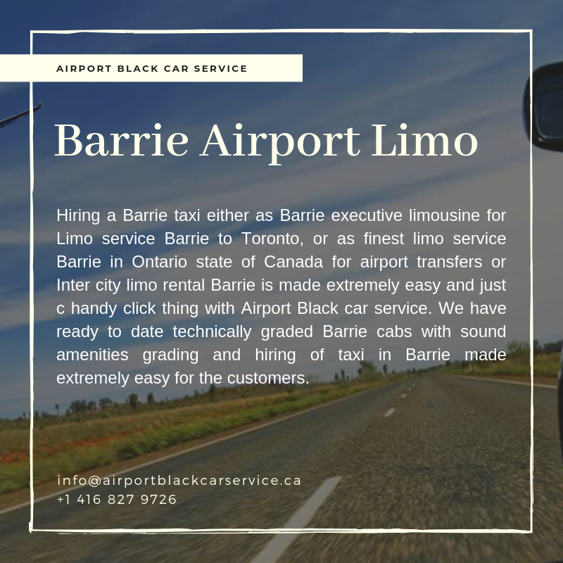 Barrie Airport Limo Barrie Limo to Airport (With images