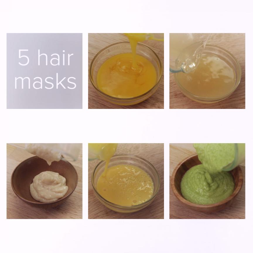 DIY Hair Masks Dry, Damaged Hair Top Knot Curly hair