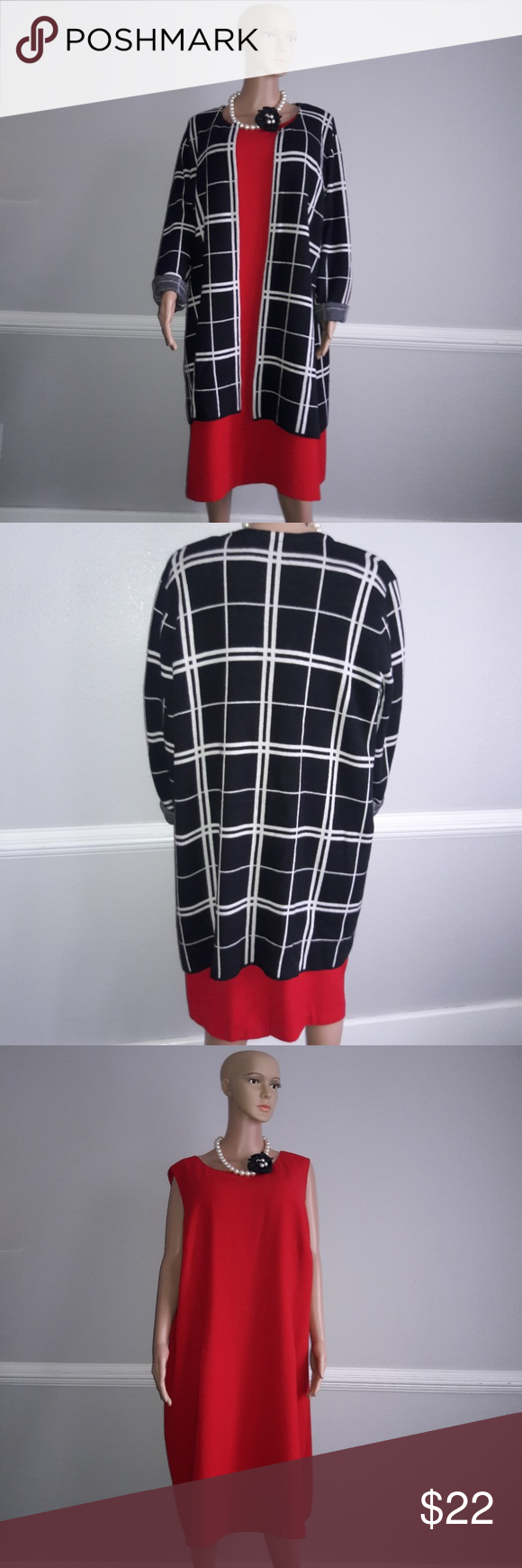 b1b5854fc8da Outfit   Cardigan + dress  1 price Perfect for the office or Church  CARDIGAN SIZE