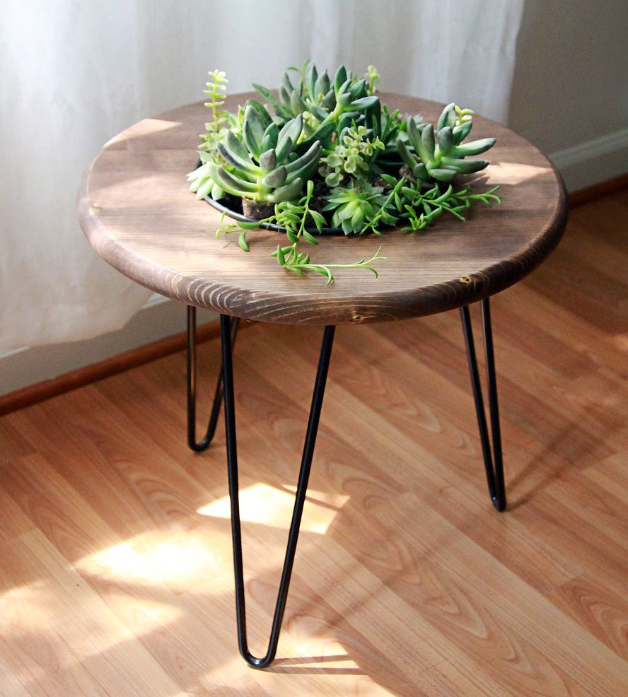 Wood Planter Side Table