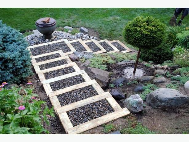 15 Build Timber Steps And Stairway Down Embankment Garden Steps Landscaping On A Hill Garden On A Hill