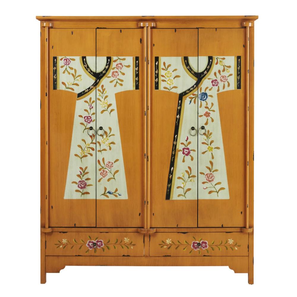 Wooden printed wardrobe W 150cm | Maisons du Monde en 2020 ...