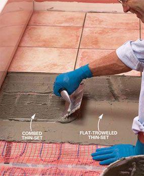 How To Install In Floor Heat Heated Floors Home Renovation