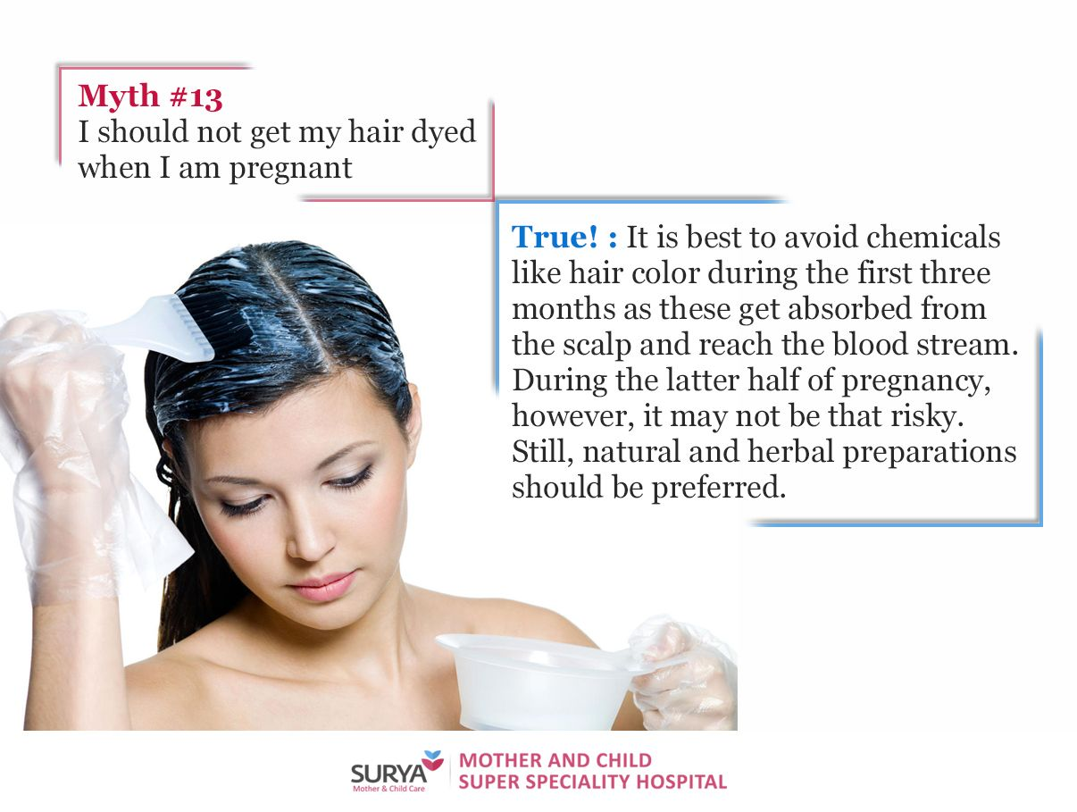 Myth 13 I Should Not Get My Hair Dyed When I Am Pregnant Read More