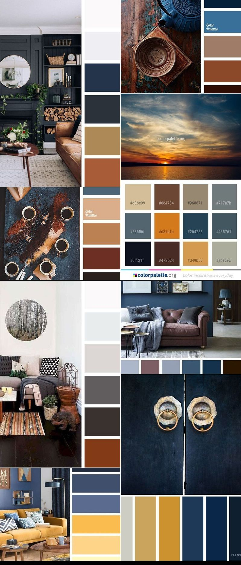 The Best Living Room Color Schemes Brown Gold Amp Dark Blue Palette Color Palette Living Room Brown Color Schemes Living Room Color Schemes