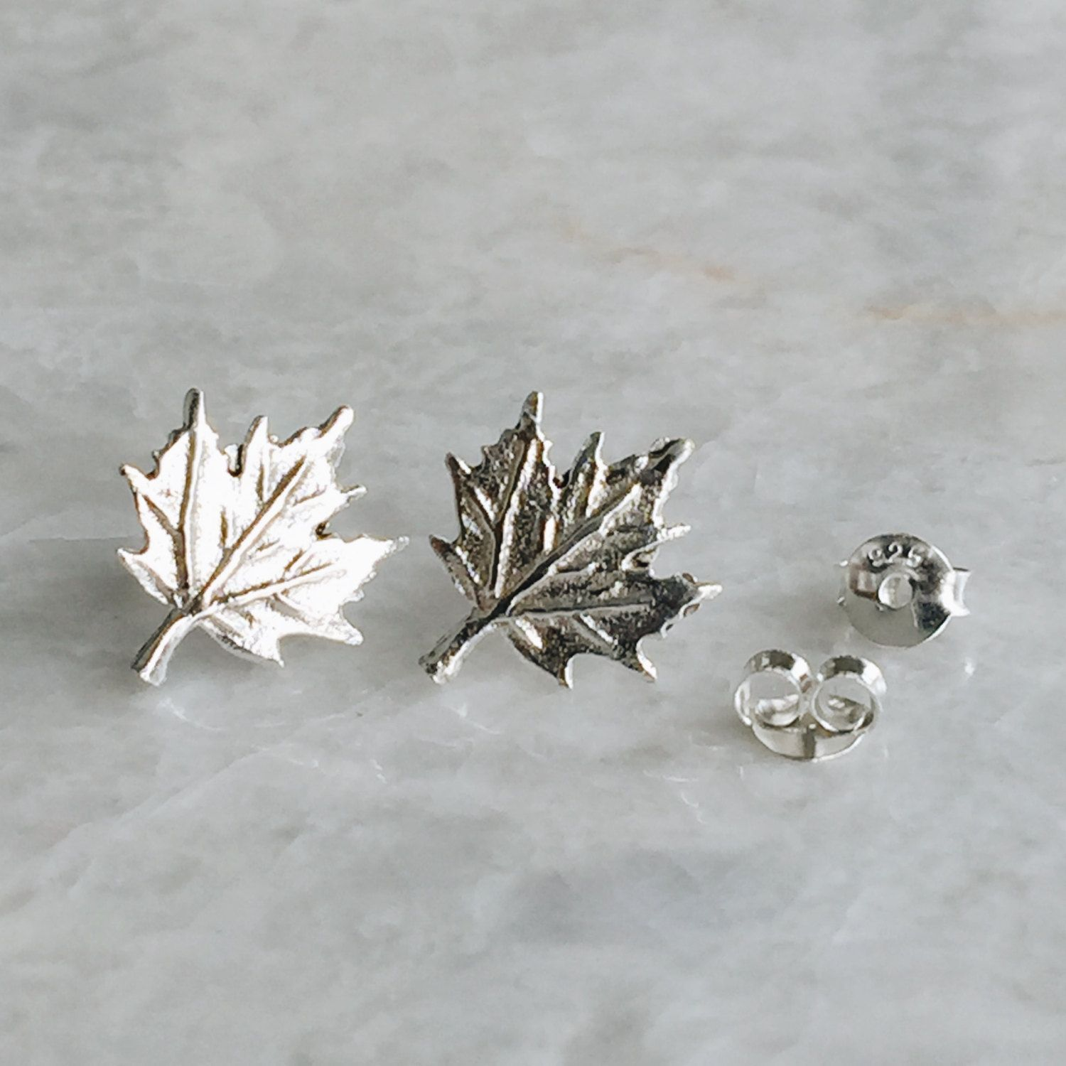 7e93678d6 Sterling silver maple leaf studs, Silver maple leaf studs, Maple leaf  earrings, Canadian maple leaf, Canada day (ES269) by SilverCartel on Etsy