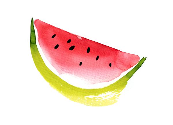 Single Slice Of Watermelon From Happy Weekend By Ekaterina Koroleva Via Behance Watermelon Tattoo Watermelon Illustration Watermelon Cartoon