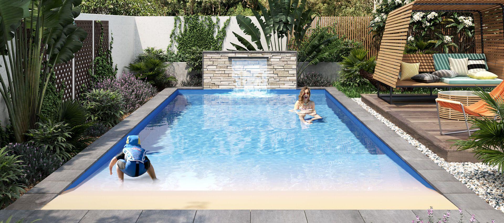 Beach Pool 7m Swimming Pools Perth Wa Freedom Pools Pool Family Pool Pool Companies