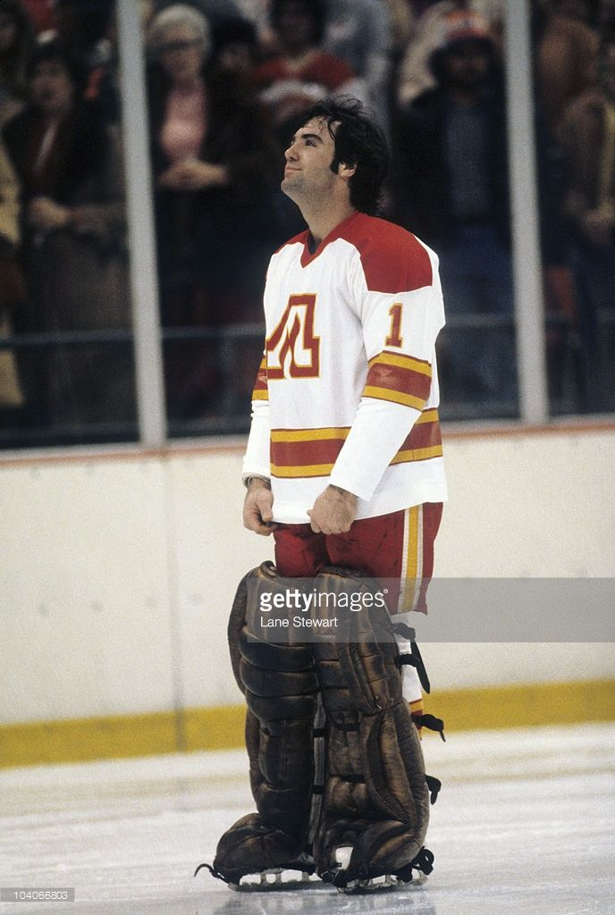 hockey-atlanta-flames-goalie-jim-craig-on-ice-before-game ... Jim Craig