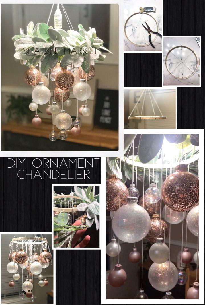 Photo of DIY Christmas Ornament Bubble Chandelier