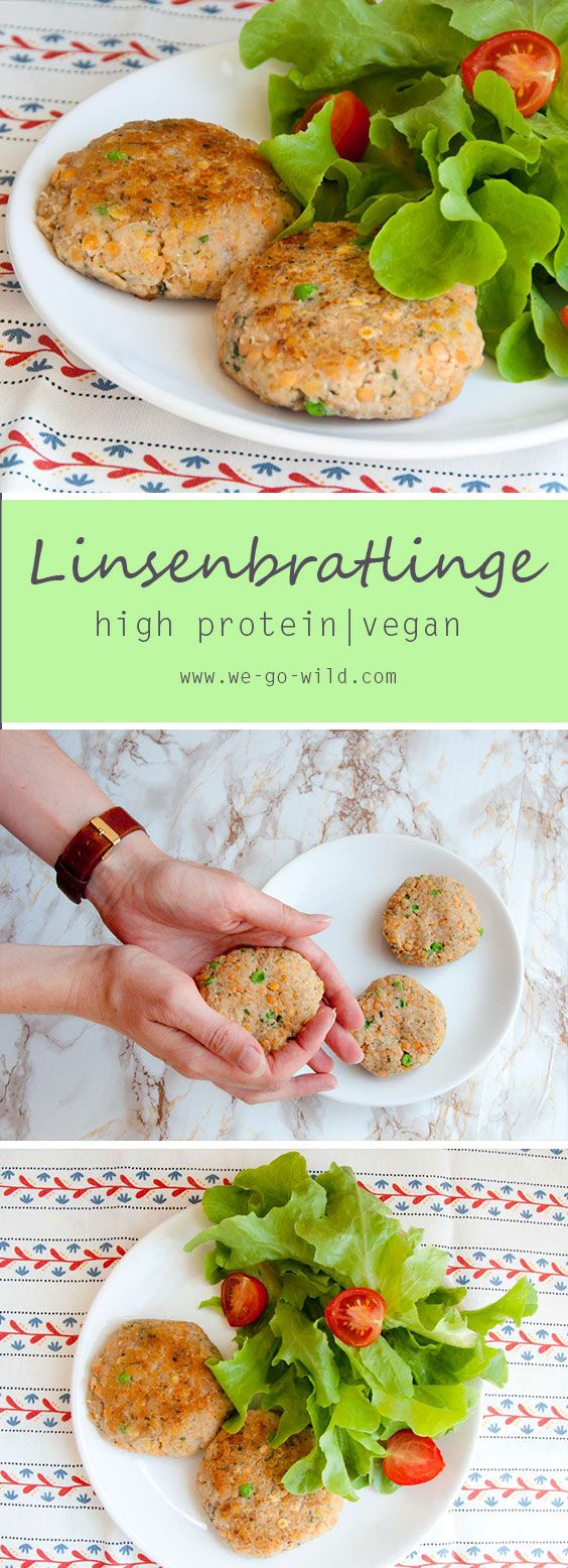 Veganes Rezept für rote Linsenbratlinge