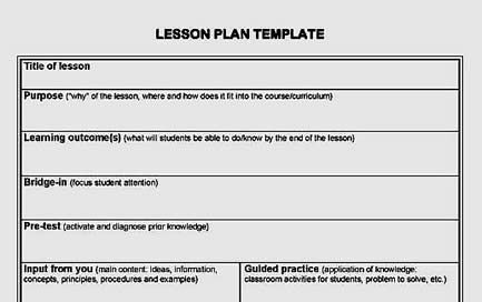Lesson Plan Template Centre For Teaching And Learning Services - Simple lesson plan template for teachers