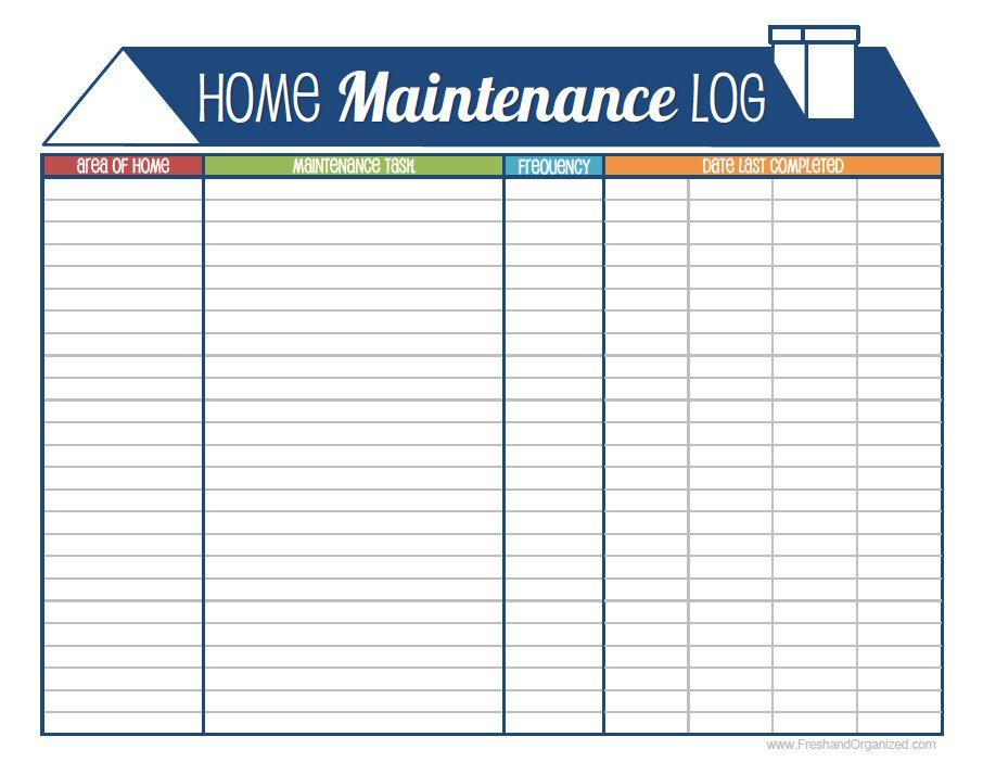 Home maintenance log home maintenance schedule