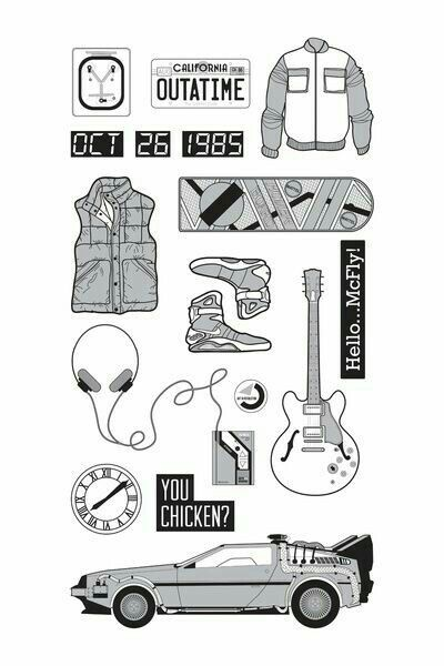 Pin By Juan Pablo Gelabert On Coloring Pages Back To The Future Tattoo Back To The Future Party Back To The Future