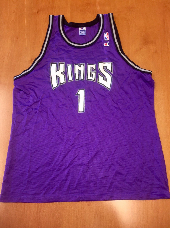 174485245e5 Vintage 1995 - 1998 Sacramento Kings Draft Day Champion Jersey Size 52  jason williams mitch richmond wayman tisdale bobby hurley jackson nba by ...