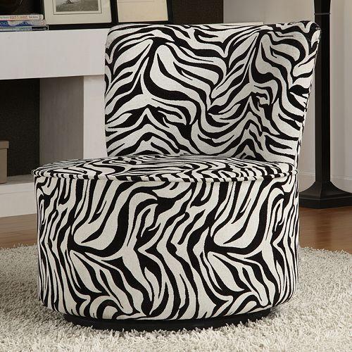 zebra print swivel chair  living room chairs dinning