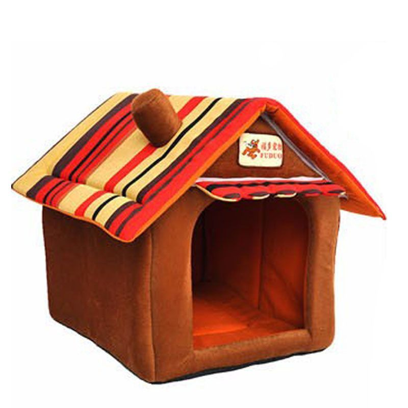 Four seasons washable small pet bed dog cat tent house Kennels for small dog Soft strip dog puppy Bed teddy indoor House bedFeature BreathableMaterial ...  sc 1 st  Pinterest & Four seasons washable samll pet bed dog cat tent house Kennels for ...
