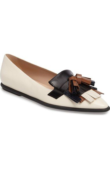 Explore White Flats, Pointed Toe Flats, and more! TOD'S Tassel Ballet Flat  (Women).