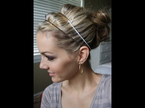 beautiful easy updo This is a double headband updo hair tutorial. I love  this look and it s easy to get. This look also can be changed up easily  just by ... e047dc8c392