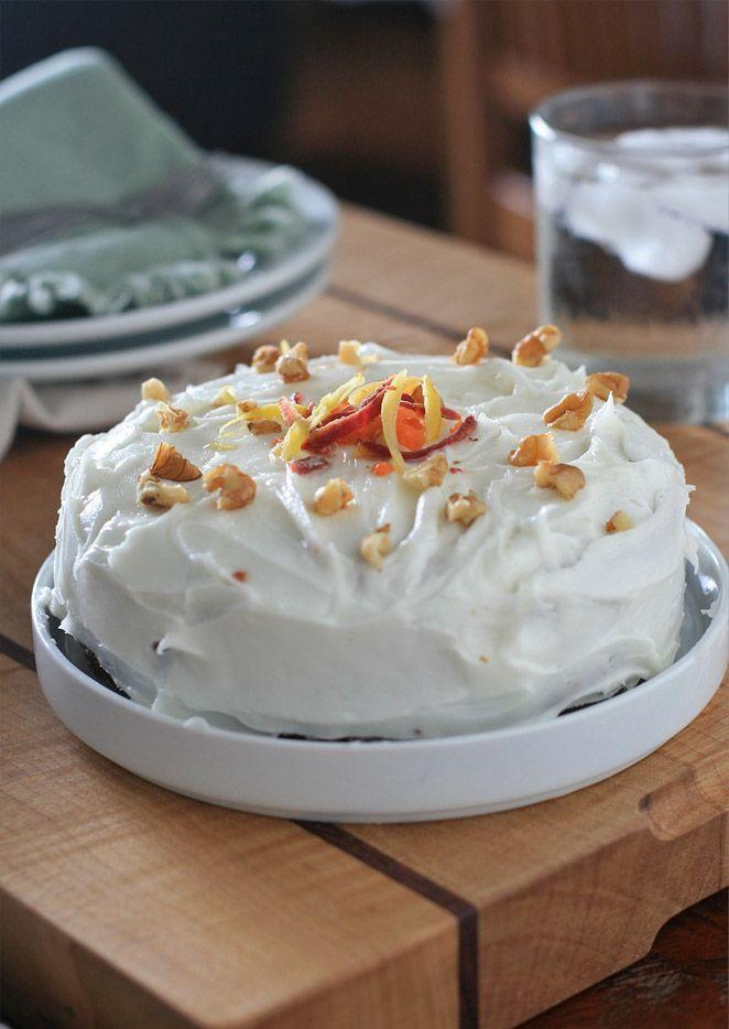 Sin Gluten Pastel De Zanahoria Con Crema Agria Frosting Cocineros Muchacha Del Mundo Gluten Free Carrot Cake Sour Cream Cake Gluten Free Sweets