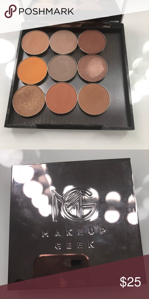 Makeup Geek neutral eyeshadow palette Swatched only