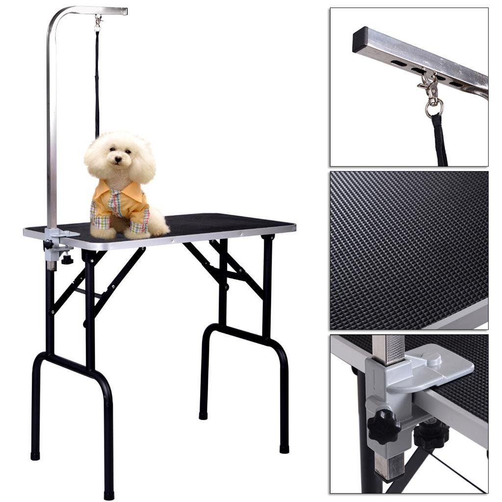Pet Dog Cat Grooming Table Top Foam Adjustable Table W Armandnoose Rubber Mat 32 Click On The Image Dog Restraint Cat Grooming Dog Training Pads
