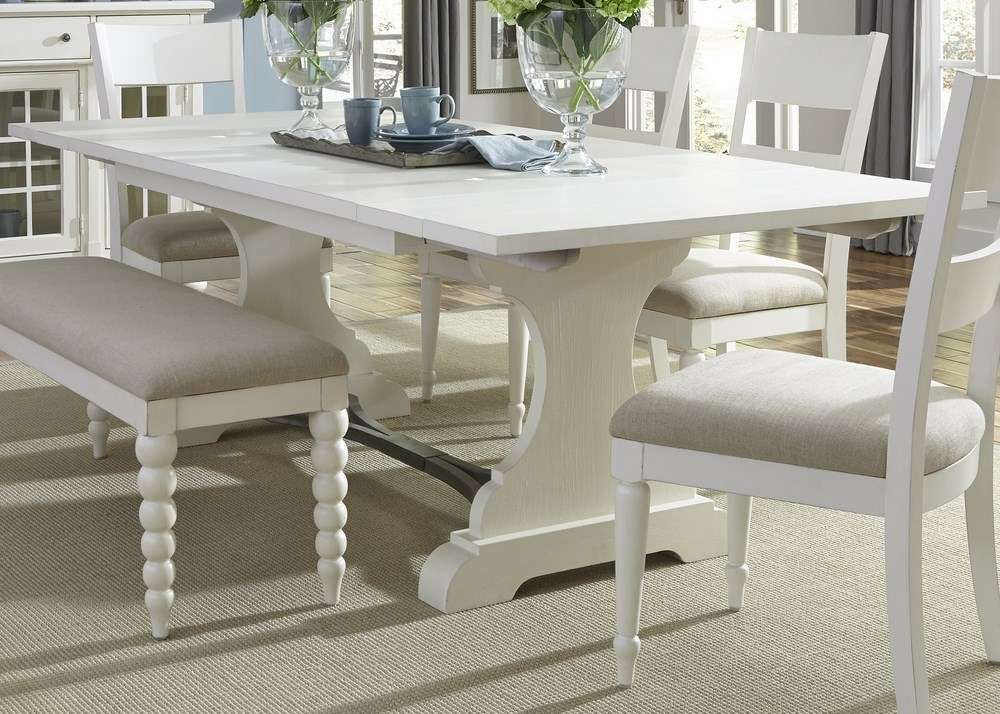 Marvelous Buy Liberty Furniture Harbor View II 94x42 Rectangular Trestle Table In  White On Sale Online