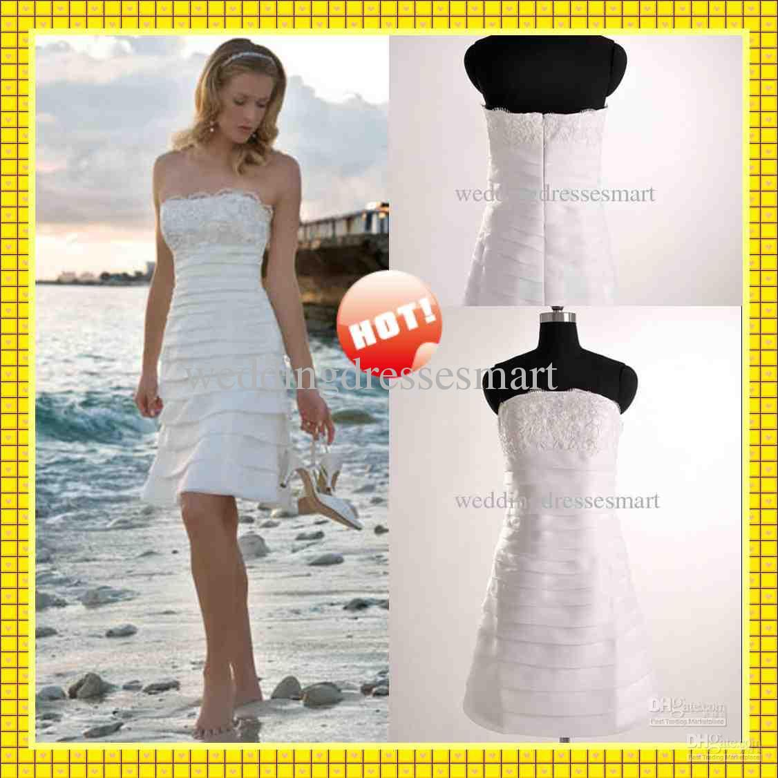 Thick organza strapless tiers slim skirt fashion short strapless thick organza strapless tiers slim skirt fashion short strapless beach wedding dresses ombrellifo Image collections