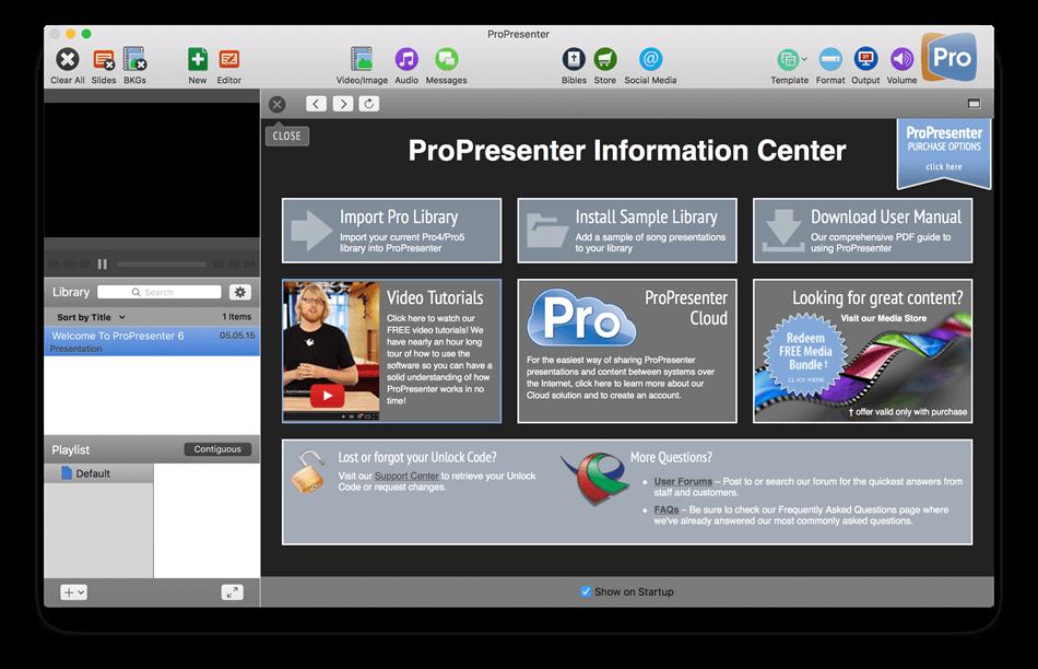 ProPresenter 6.2.10 for Mac 破解版 现场双屏演示系统 Information