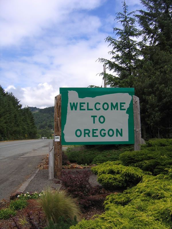 May 2012 - Entered Oregon from California on Pacific Coast Hwy US101