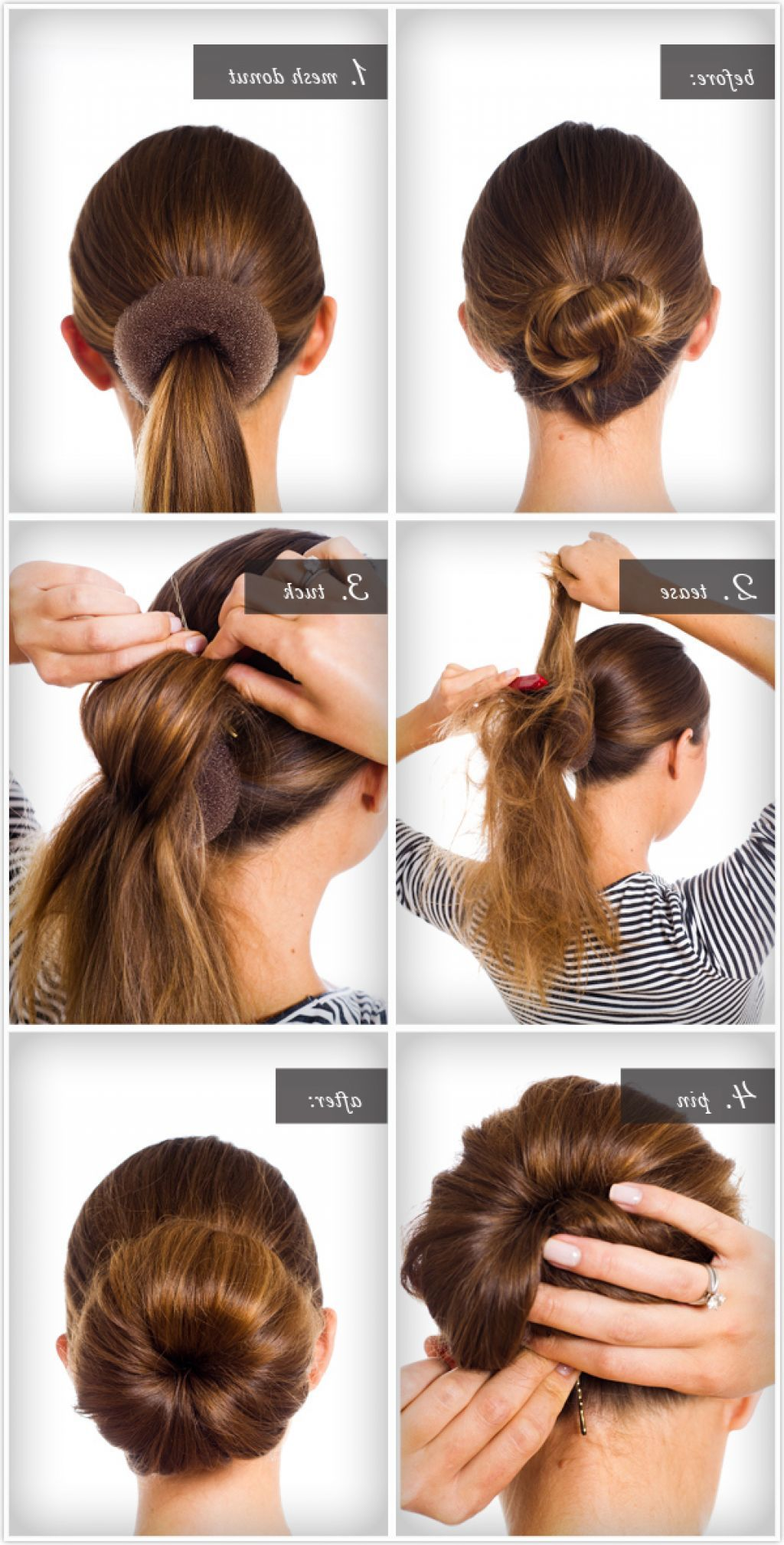 new-hairstyle-2015-step-by-step | Hair donut, Hair bun maker, Hair styles