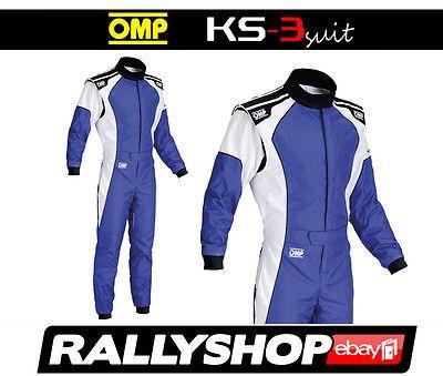 Omp Ks 3 Suit Blue White Size 52 Go Karting Racing Sport Overall Cik 3 Layers Race Suits Car Kart Racewear Racing Suit Overalls Karting