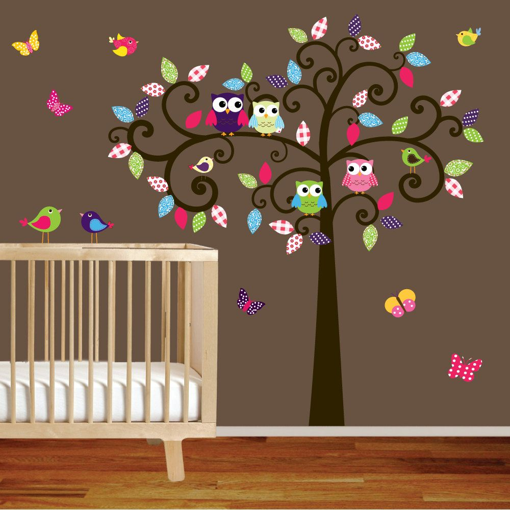 Vinyl Wall Decal Nursery Wall Decal Children Room Wall Decal - How to put up a tree wall decal