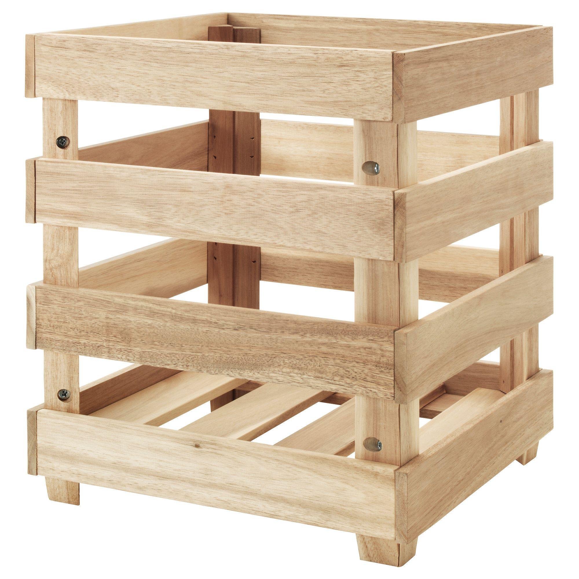 IKEA SKOGSTA Storage crate What could we put in here