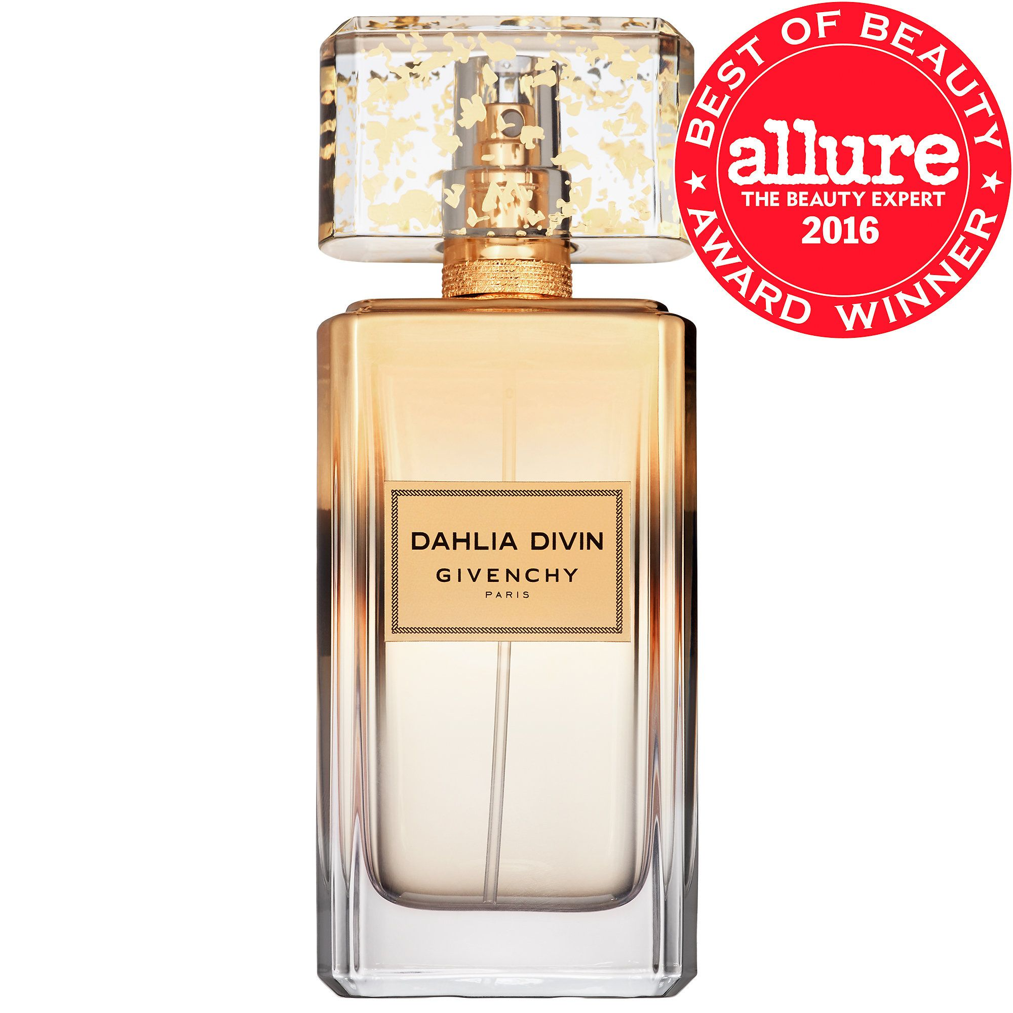 Shop Dahlia Divin Le Nectar de Parfum by Givenchy at Sephora. This fragrance is as luxurious as gold leaf with notes of mimosa, jasmine, rose, and tonka bean.