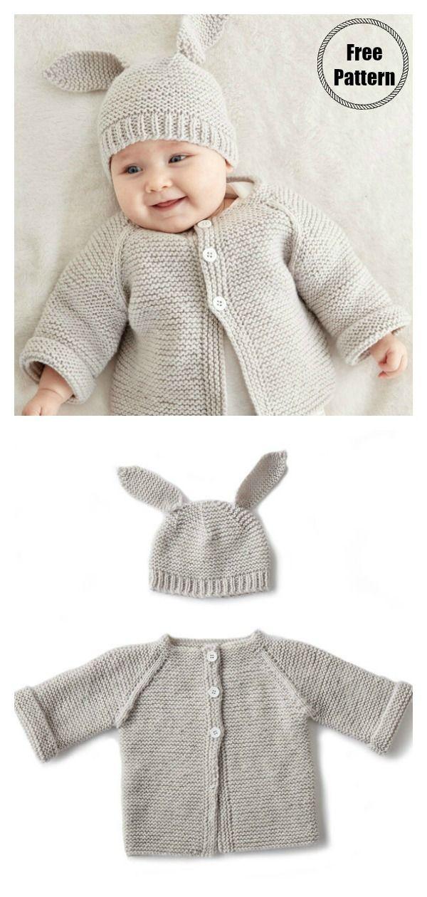 7 Garter Stitch Baby Sweater Free Knitting Pattern   Free