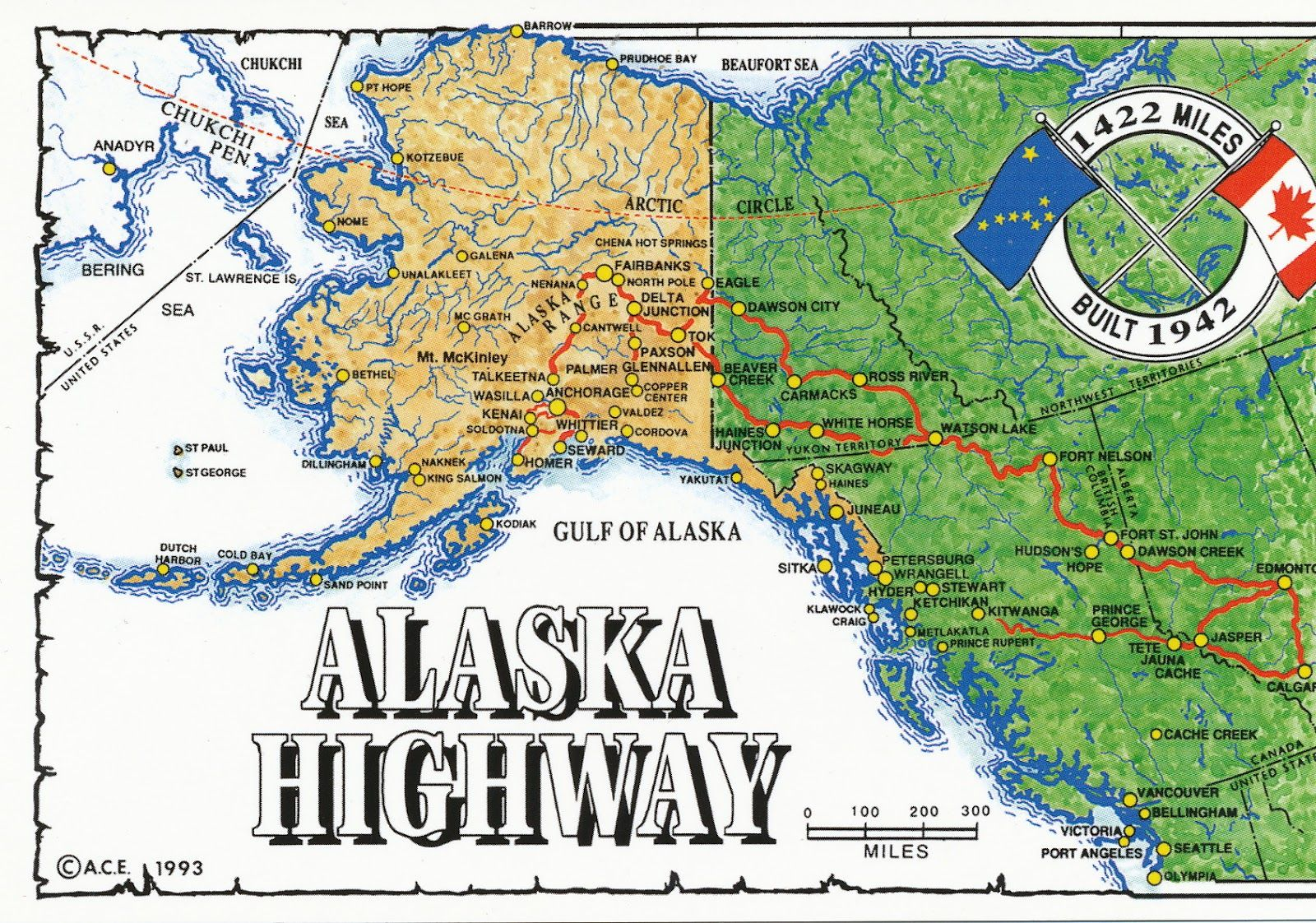 Alaska Online Maps Alaska Highway Map Alaska Travel - Map of alaska and canada