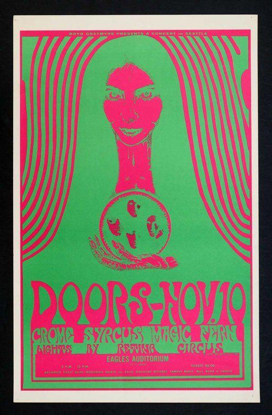The Doors Concert Poster Canvas Art Print 1967 Avalon Break on Through