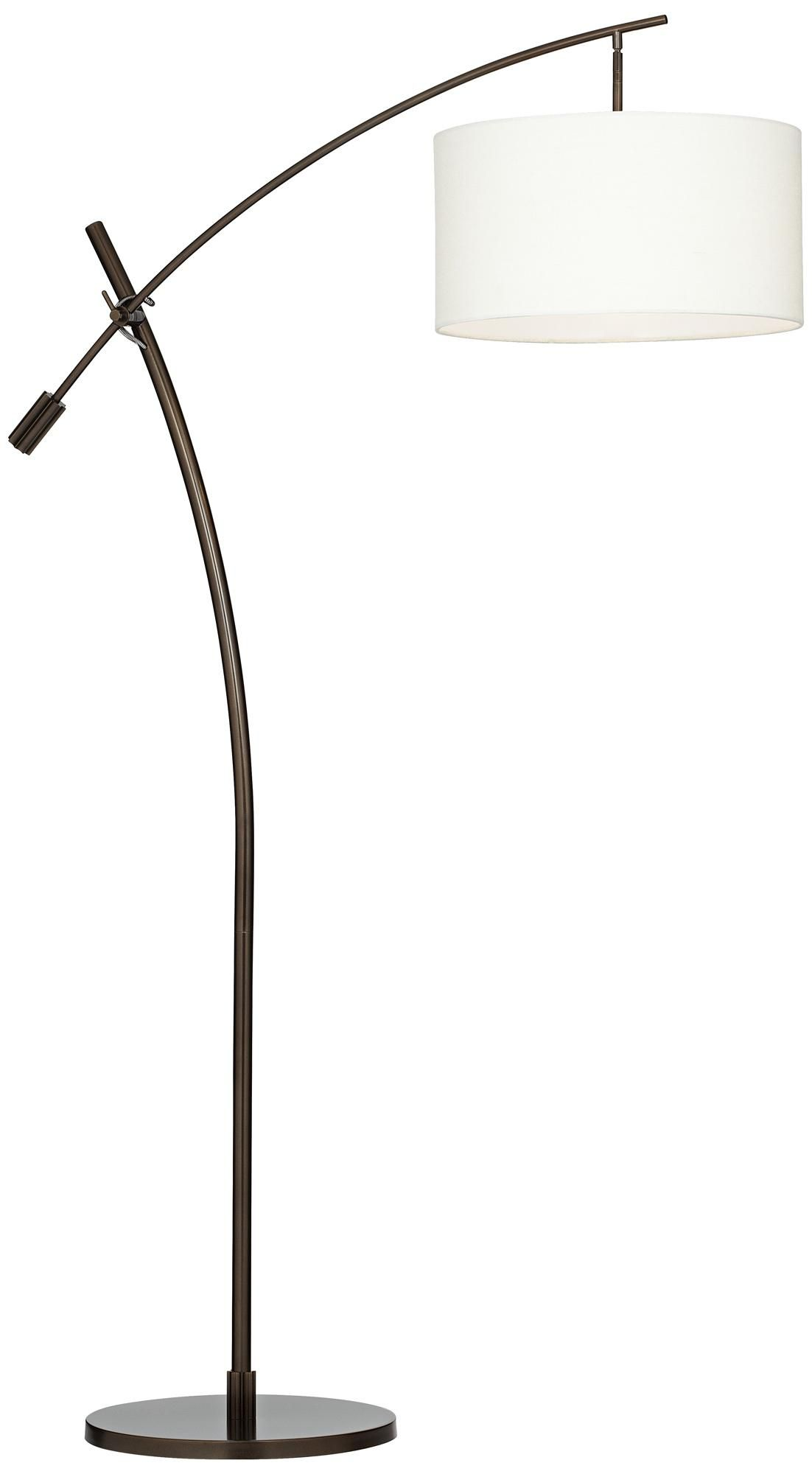 Arc Floor Lamps Bronze, Possini Euro Bronze Finish Boom Arched Floor Lamp #V2695