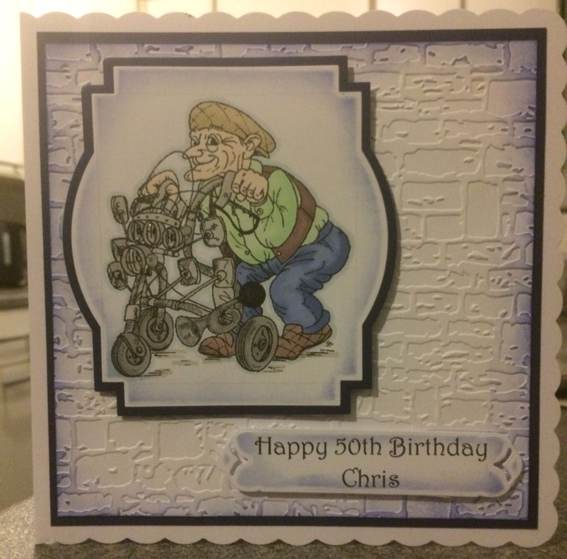 Th mans bday card textures embossing folder my cards