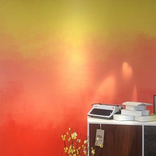 Painting An Accent Wall Blending Colors: Ombre Paint, Diy Design, Wall