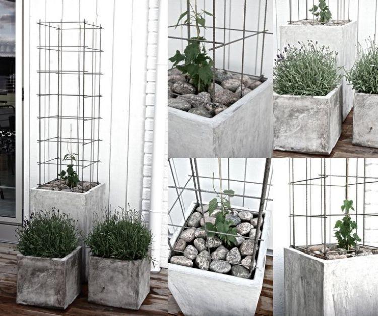 einfache Pflanzkübel mit geometrischen Formen   Eingang Bilderrahmen ...