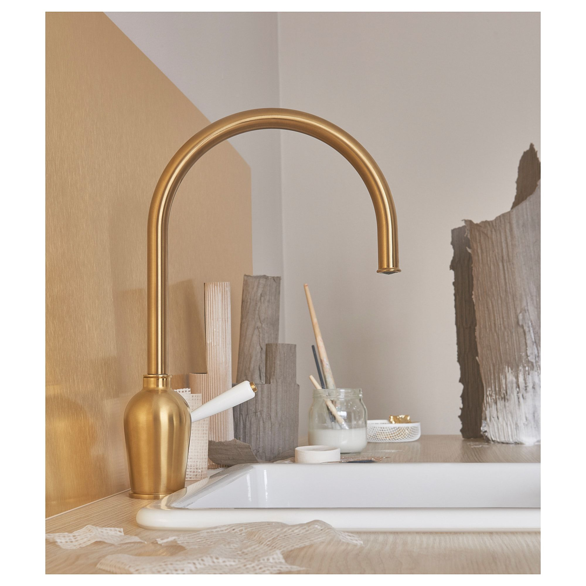 Lysekil Wall Panel Double Sided Brass Color Stainless Steel