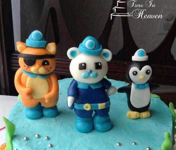 OCTONAUTS CAKE TOPPER Edible Cake topper Fondant by EdibleSugarArt